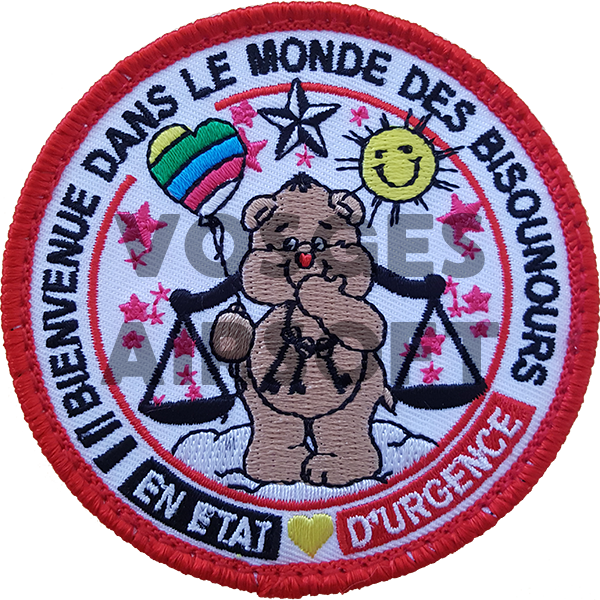 Ecusson Bisounours Justice (BE)
