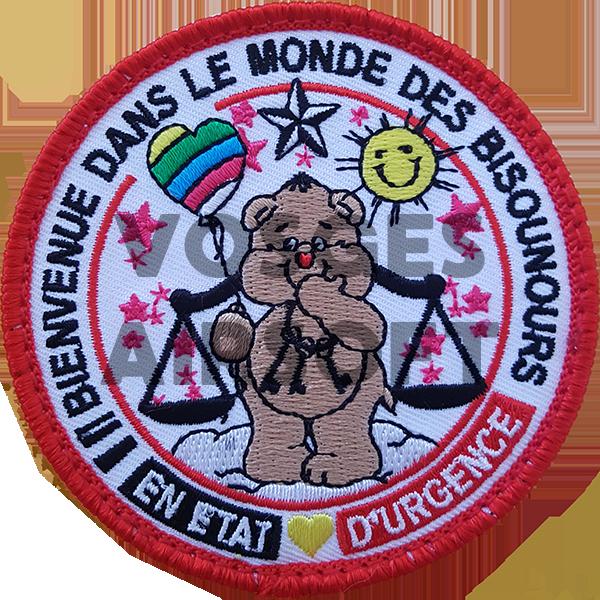 Ecusson Bisounours Justice (BELGIQUE)